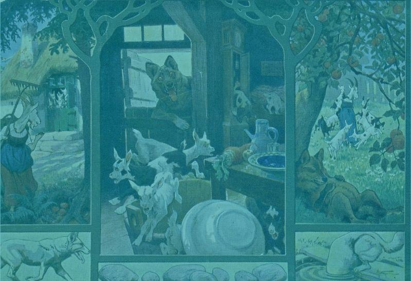 der-wolf-und-die-sieben-geislein-postkarte-deutsches-maerchenmuseum-ostwestfalen