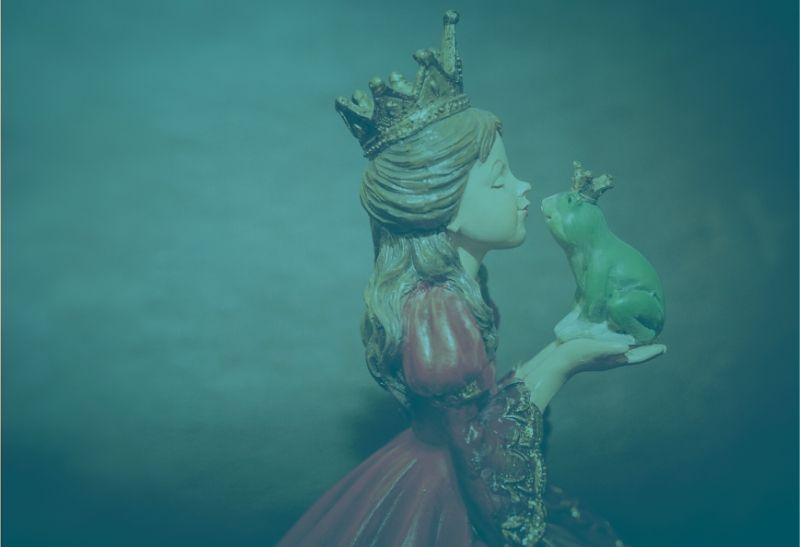 Prinzessin küsst den Frosch